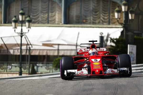 Formule 1 Verslag vrije training Vettel scherpt baanrecord aan in tweede training Monaco, crash voor Stroll
