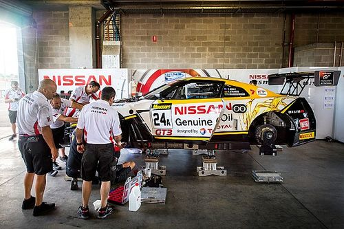 Crashed Nissan repaired in time for Bathurst qualifying