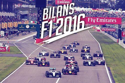 Bilans F1 2016 - Le bulletin de notes de Motorsport.com