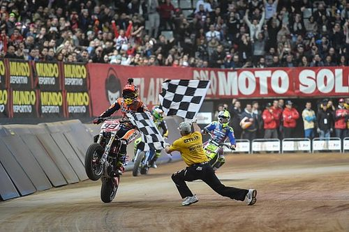 Marquez wins second Superprestigio Dirt Track title