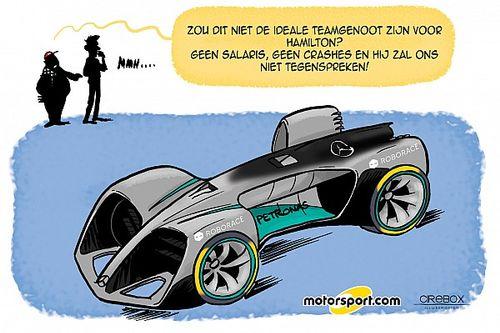 Cartoon van Cirebox - Mercedes zoekt vervanger Nico Rosberg
