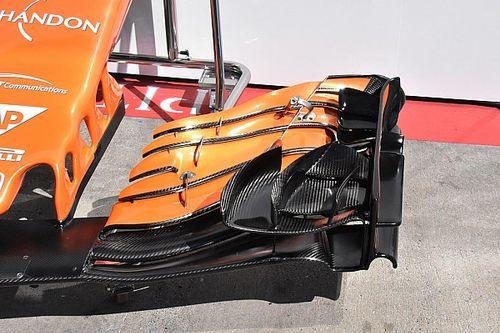 McLaren: c'è un soffiaggio sulla paratia laterale dell'ala anteriore
