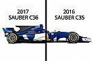 Formel 1 2017: Sauber C35 und C36 im Vergleich