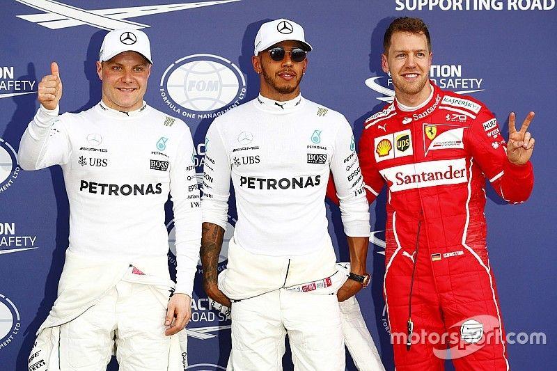 De startopstelling voor de Grand Prix van Australië