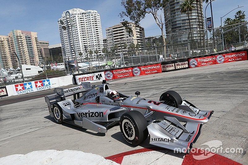 Montoya heads Penske 1-2 in first practice at Long Beach
