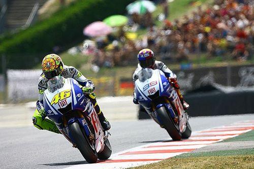 Lorenzo explica por qué le derrotó Rossi en el GP de Catalunya de 2009