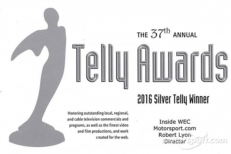 Motorsport.com mit mehreren Telly-Awards ausgezeichnet