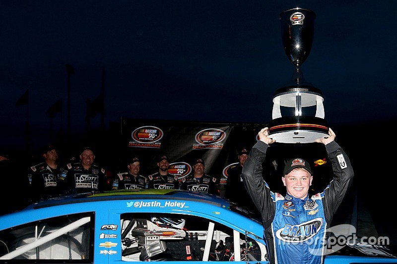 Haley celebrates K&N East title with new NASCAR Truck ride