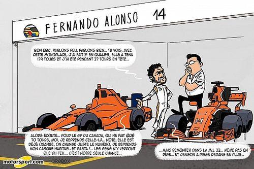 L'humeur de Cirebox - Alonso, le dur retour à la réalité