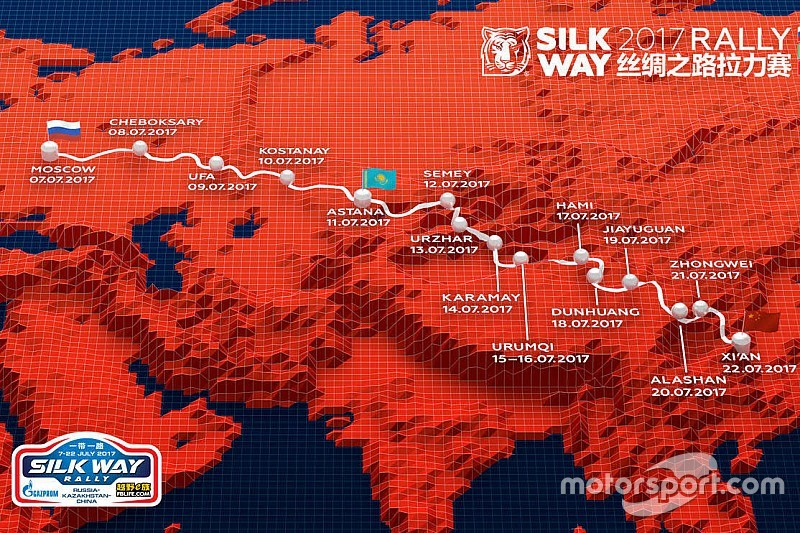 Route for 2017 Silk Way Rally Announced