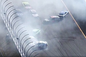 Kyle Busch wins Stage 2 at NHMS after bizarre last-lap pileup