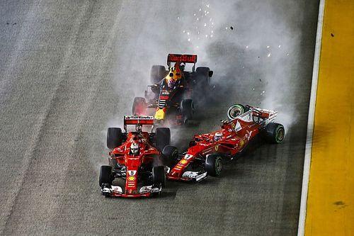 Kazaya karışan Ferrari ikilisi ve Verstappen ceza almadı