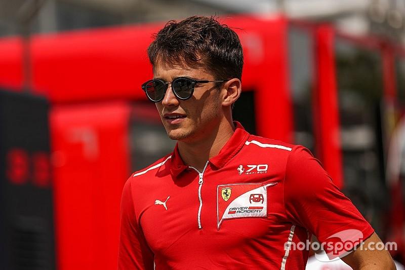 Leclerc au volant de la Ferrari pour les tests Pirelli