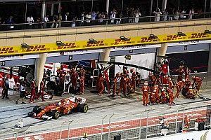 Ebben a bajnokságban a Ferrari csak a negyedik: kerékcserék