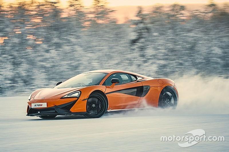 Vidéo - La McLaren 570S en action sur la glace