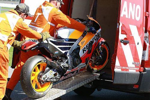 Marquez baalt behoorlijk van stevige crash in tweede training