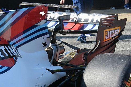 A Williams is teszteli a maga dupla T-szárnyát Barcelonában