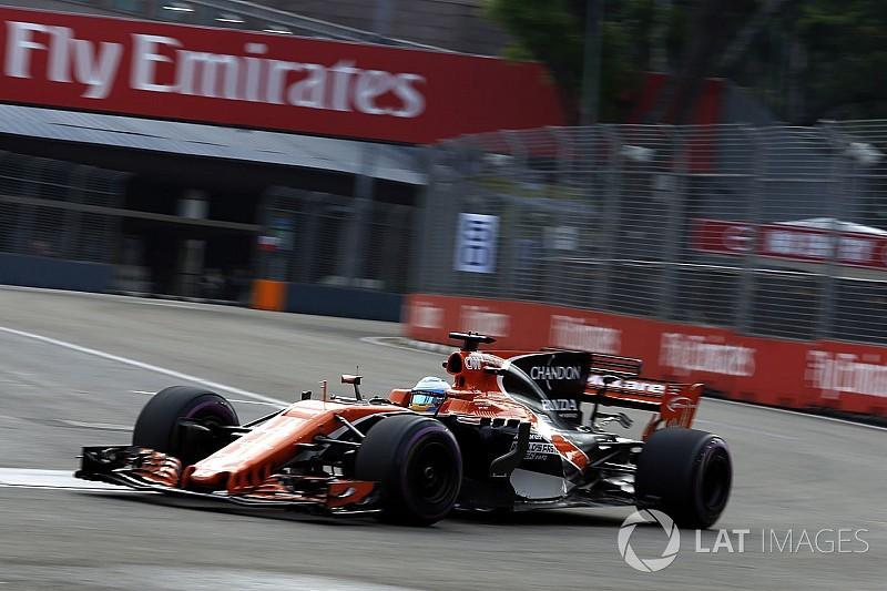 F1シンガポールGP FP3速報:マクラーレンが4&5番手! 首位はフェルスタッペン
