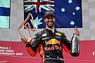 Ricciardo: Avusturya'daki podyum, Bakü'deki galibiyetten daha memnun edici