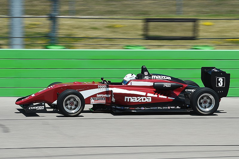 Iowa USF2000: Askew takes pole for his first ever oval race