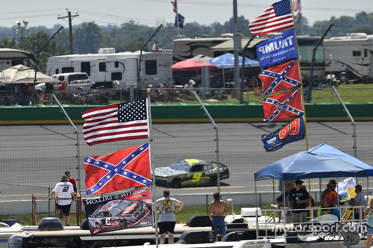 "Bubba Wallace on Confederate flags: ""Get them out of here"""