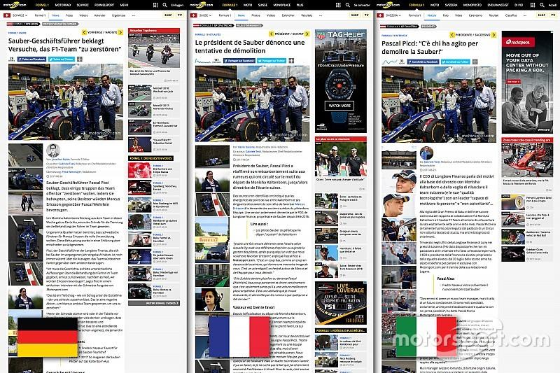 Motorsport.com открывает новое швейцарское издание на трех языках