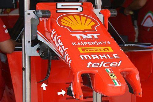 Ferrari: non ci sono solo i piloni più lunghi nel muso della SF16-H