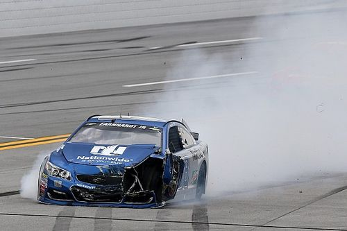 Earnhardt retiring Amelia to his car graveyard after two big hits at Talladega