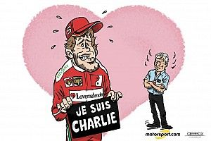 Cartoon van Cirebox - De excuses van Sebastian Vettel