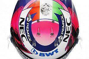 GALERÍA: Pérez presenta su casco para la temporada 2019
