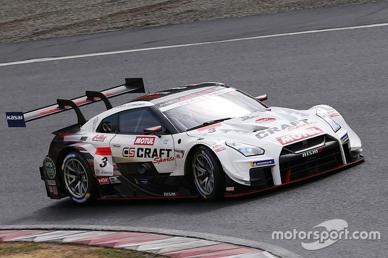 岡山テスト2日目午前 ウエット路面でCRAFTSPORTS MOTUL GT-Rがトップ、日産&ミシュラン勢が上位独占