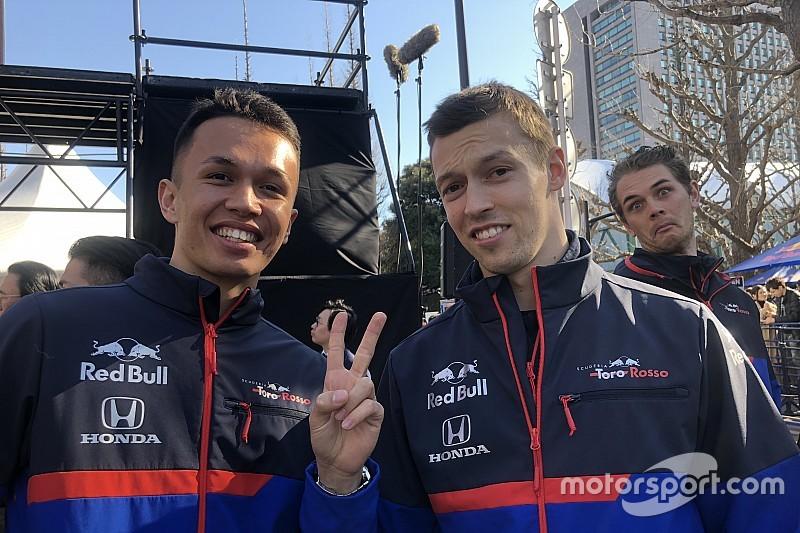 F1開幕戦に向けて一言! デモラン会場でトロロッソ・ホンダのふたりに突撃インタビュー