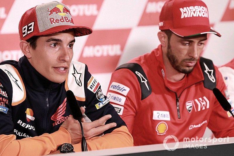 """Márquez: """"Ducati siempre va al límite a nivel técnico, igual que yo en la pista"""""""