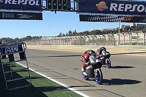 Fenati reapareció en los test privados en Valencia