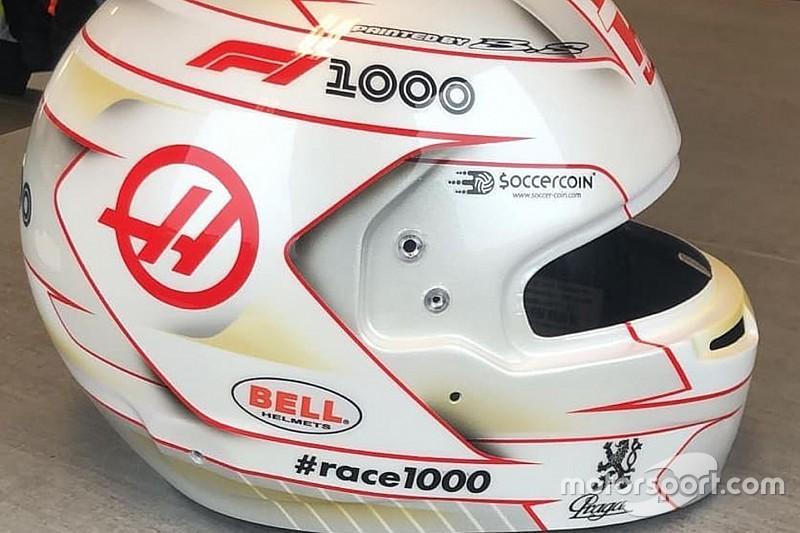 Грожан презентував дизайн шолома для 1000-го Гран Прі Формули 1