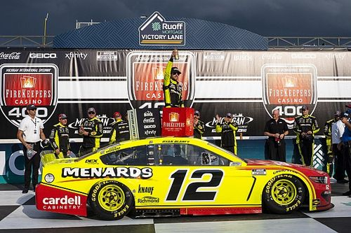 Ryan Blaney charges to Michigan Cup win over Byron
