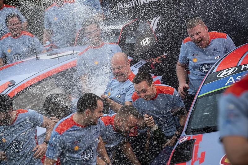 Fotogallery WRC: Hyundai festeggia il primo iride Costruttori