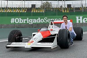 GALERÍA: Senna y el McLaren MP4/4 juntos en Interlagos este jueves