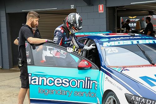 Mostert turns first Holden Supercars laps
