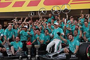 Las fotos de la celebración de Mercedes: seis de seis en la era híbrida