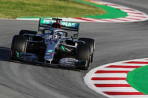 Hamilton leads Mercedes 1-2 on first day of testing