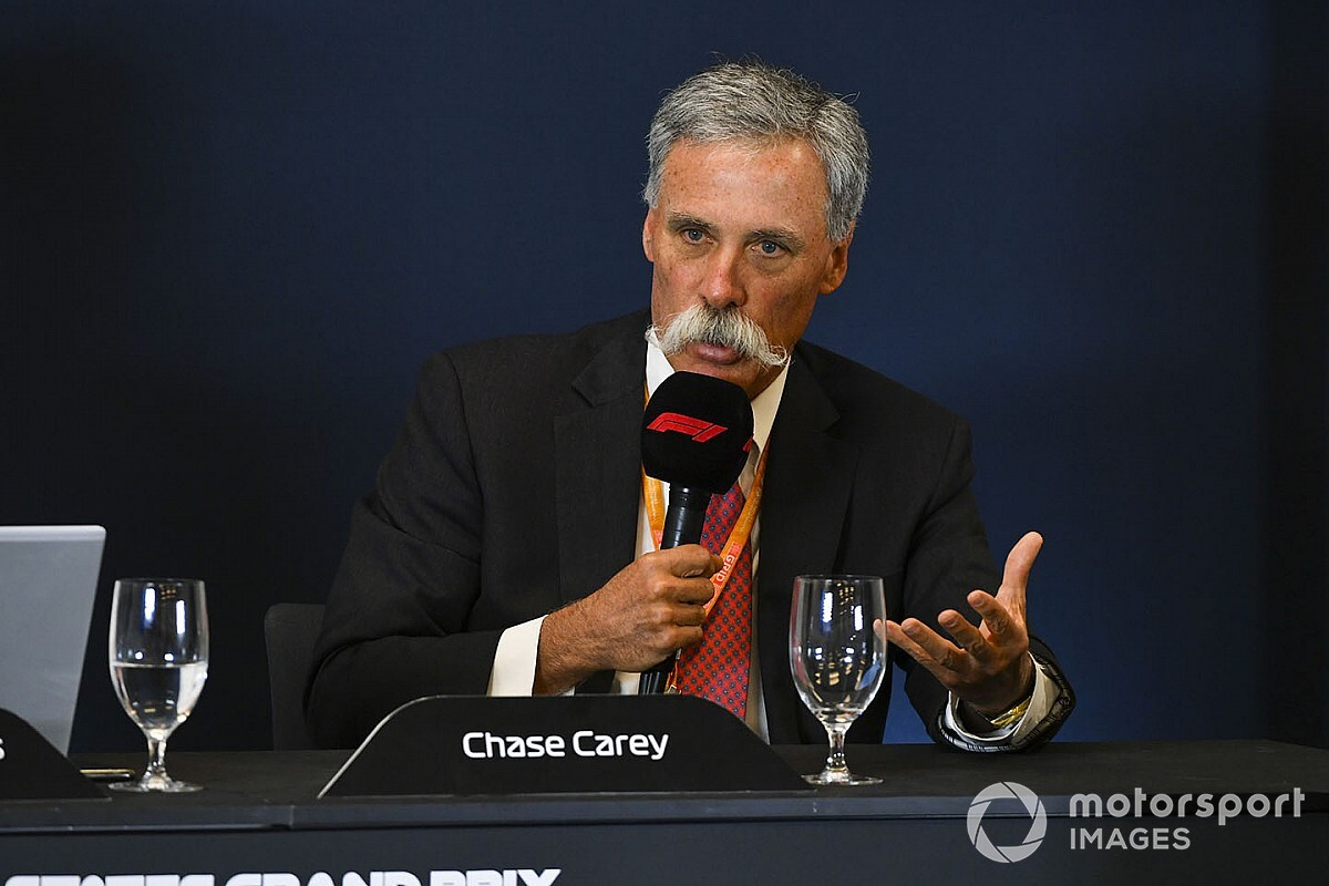"""Carey: """"La F1 2020 sarà di 15-18 gare, ora lavoriamo su altro"""""""