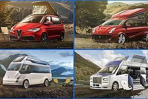 ¿Te imaginas ir por el campo con estas furgonetas de lujo?