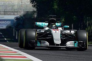 Mozgás közben Hamilton világbajnok Mercedese a Gran Turismo Sportban