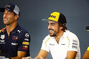 """Alonso wil excuses: """"Heb in 2018 twee aanbiedingen van Red Bull gehad"""""""