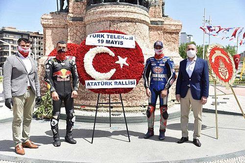 Kenan Sofuoğlu ve Toprak Razgatlıoğlu, Atatürk Rallisi'ne çıktılar
