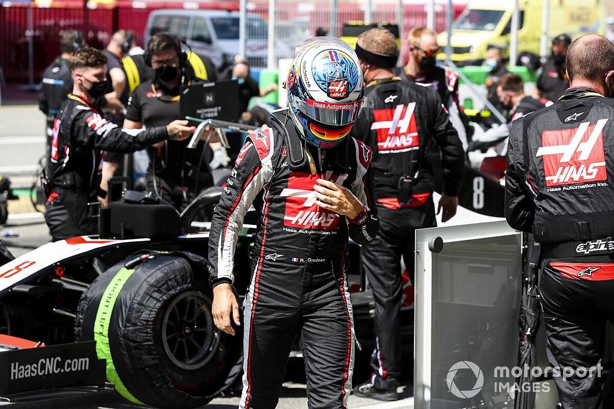 """F1: Grosjean detona carro da Haas na Espanha: """"Talvez o pior que já guiei"""""""