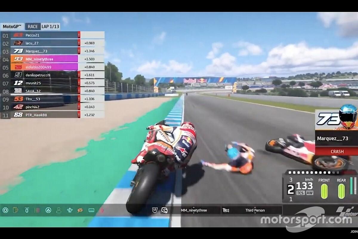 Viñales wint MotoGP Virtual GP Jerez, podium Bendsneyder in Moto2