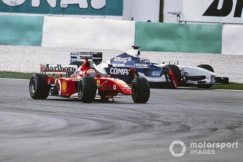 C'était un 17 mars: Schumacher et Montoya s'accrochent