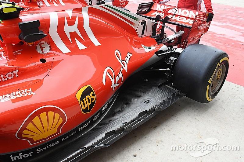 Ferrari test radicale vloer in vrijdagtrainingen Austin